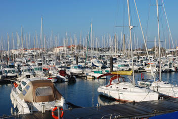 Fishing port and marina at 500m